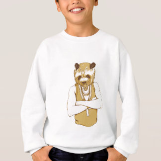 human bear with tongue sweatshirt
