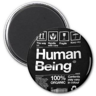 human being 6 cm round magnet