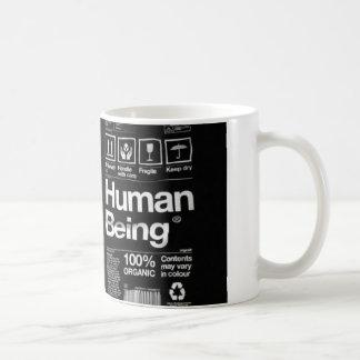 human being basic white mug