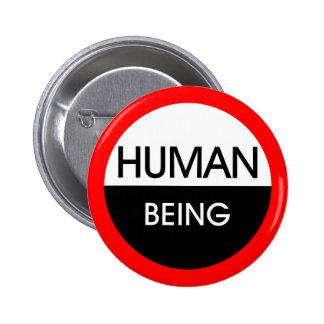 Human Being Pinback Button