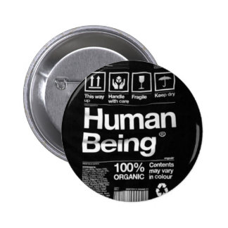 human being pinback buttons