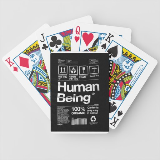 human being playing cards