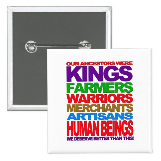 Human Beings Pinback Buttons