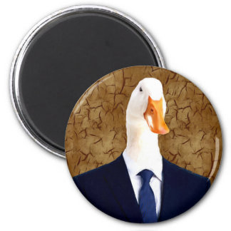 Human Body in suits with Goose Head Magnet