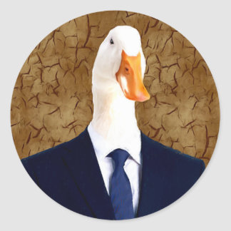 Human Body in suits with Goose Head Sticker