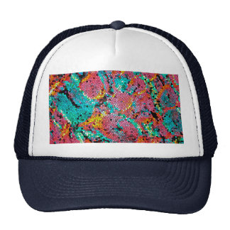 HUMAN BONE CELL STAINED GLASS ART CAP