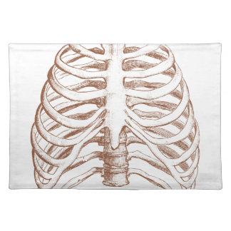 human bones placemat