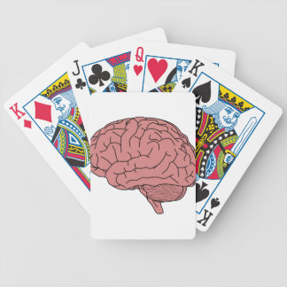 Human brain bicycle playing cards