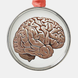 human brain metal ornament
