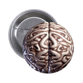 Human Brain Pin Buttons
