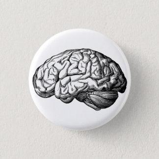 Human Brain Spooky button pin