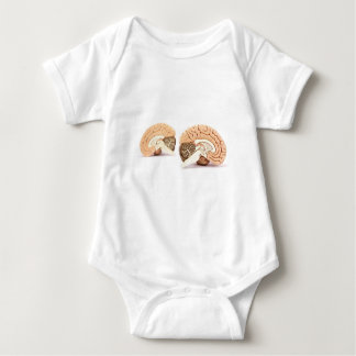 Human brains model isolated on white background baby bodysuit