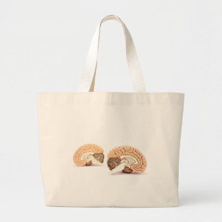 Human brains model isolated on white background large tote bag