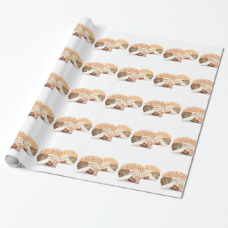 Human brains model isolated on white background wrapping paper
