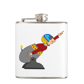 Human Cannonball Hip Flask