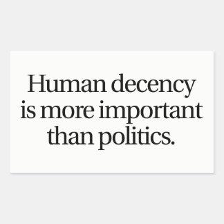 Human Decency Sticker