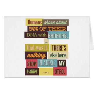 human dna texting design card