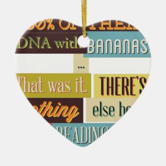 human dna texting design ceramic ornament