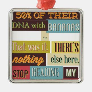 human dna texting design metal ornament
