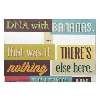 human dna texting design placemat