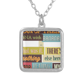 human dna texting design silver plated necklace
