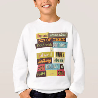 human dna texting design sweatshirt