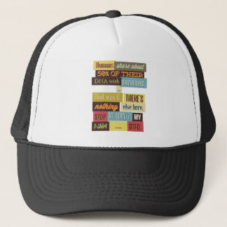 human dna texting design trucker hat