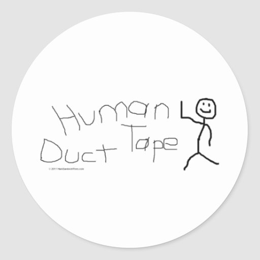 Human Duct Tape Sticker