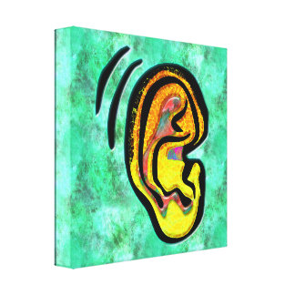 Human Ear Canvas Print