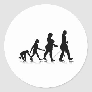 Human Evolution_8 Classic Round Sticker