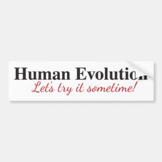 Human Evolution Bumper Sticker
