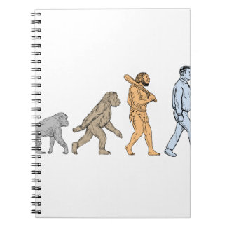 Human Evolution Walking Drawing Notebook