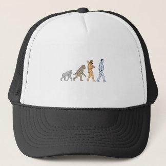 Human Evolution Walking Drawing Trucker Hat