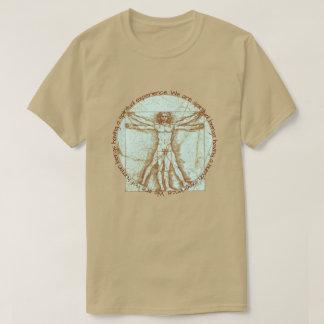 """""""Human Experience"""" Quote & Da Vinci Vitruvian Man T-Shirt"""
