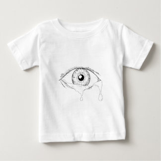 Human Eye Crying Tears Flowing Drawing Baby T-Shirt