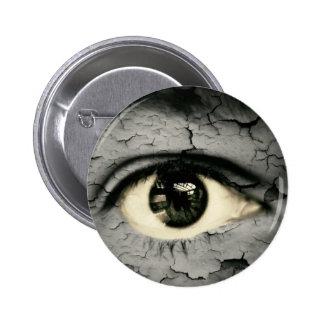 Human eye serrounded by Peeling skin Pinback Button