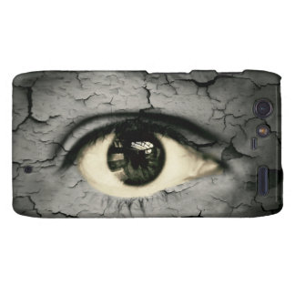 Human eye serrounded by Peeling skin Motorola Droid RAZR Covers