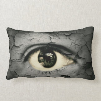Human eye serrounded by Peeling skin Pillows
