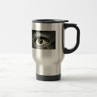 Human eye serrounded by Peeling skin Mugs