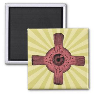 Human Eyeball Anatomy Square Magnet