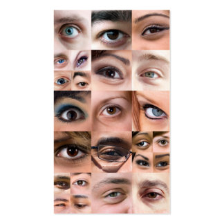 Human Eyes Montage Business Cards