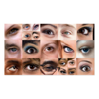 Human Eyes Montage Business Card Templates