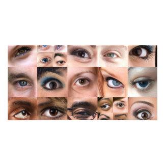 Human Eyes Montage Customized Photo Card
