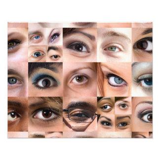 Human Eyes Montage Photograph