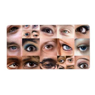 Human Eyes Montage Shipping Label