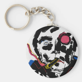 Human face Funky Keychain