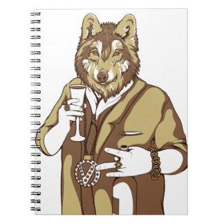 human germane dog drinking notebooks