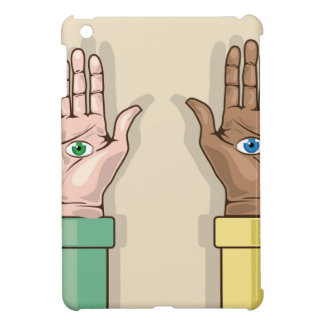 Human hands with eyes Vector Case For The iPad Mini
