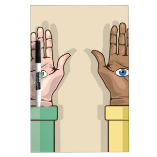 Human hands with eyes Vector Dry Erase Boards