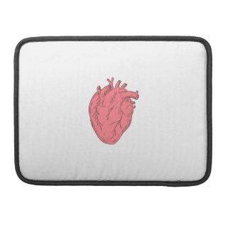 Human Heart Anatomy Drawing Sleeve For MacBooks